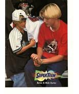 Aaron Carter Nick Carter teen magazine pinup clipping Superteen Backstre... - $5.00