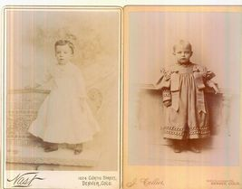 TWO GREAT DENVER COLO CABINET CARDS OF YOUNG CHILDREN - $12.95