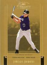 2005 Donruss Rockies Todd Helton Serial # 42/50 - $19.99