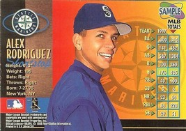 1998 SKYBOX SEATTLE MARINERS ALEX RODRIGUEZ PROMO SAMPLE CARD - $9.99