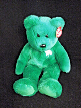 "Ty 14"" St. Patrick Erin Beanie Buddy Bear Green Shamrock Plush Stuffed A... - $19.59"