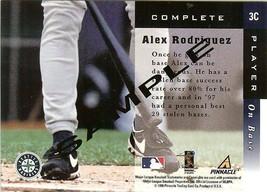 1998 Pinnacle Seattle Mariner Alex Rodriguez Promo Sample Card - $9.99