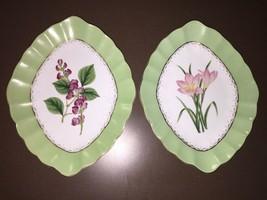 2 Beautiful Andrea By Sadek Floral Pattern Plates - £4.36 GBP