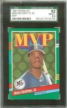 1991 Donruss Seattle Mariners Ken Griffey Jr Graded Sgc 92 - $9.99