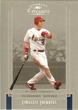 2005 donruss st. louis cardinals jim edmonds serial # 56/100 - $9.99