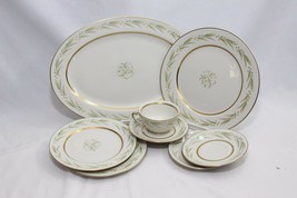 Royal Jackson Autumn Smooth Edge Platter Plates Saucers Cup Lot of 8 - $54.87