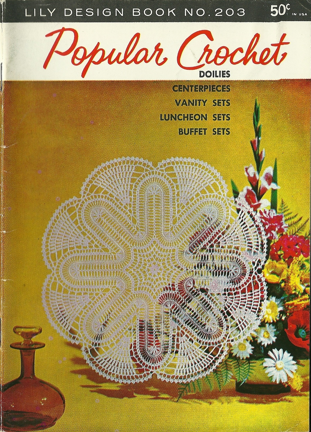 Popular Crochet Lily Design Book No. 203