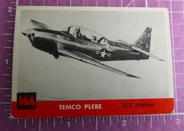 1956 Topps Jets Trading Card #166 Temco Plebe US Trainer - $15.00