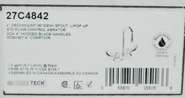 Delta 27C4842 Commercial Grade Deck Mount Two Handle Chrome Gooseneck Spout image 2