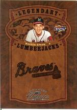 2005 donruss atlanta braves warren spahn serial # 13/400 - $2.50