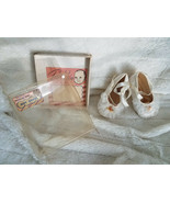 Baby Christening Shoes Vintage White/Ivory Shoes Size 1  - $27.81