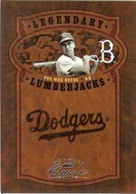 2005 donruss dodgers pee wee reese serial # 29/400 - $2.50