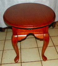 Oval Light Cherry End Table / Side Table - $299.00