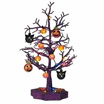"Halloween LED Sparkle Tree with Cats, Pumpkins And Spiders- 19"" - £49.98 GBP"