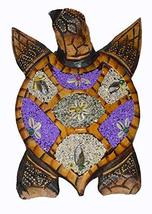 WorldBazzar Hand Carved Wood Nautical Turtle with Sand Finish Wall Art or Statue - $24.69