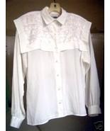 Michelle Stewart White Silky Blouse 8 - $10.00