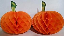Paper Pumpkins 3D Halloween Table Decoration Party Fun Centrepiece Pack ... - $3.24