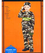 Army Military Commander Halloween Costume Sz 7-8 Medium - $12.00