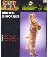 "Brown DINOSAUR Halloween Costume LARGE 47""  PLUSH! New! - $24.99"