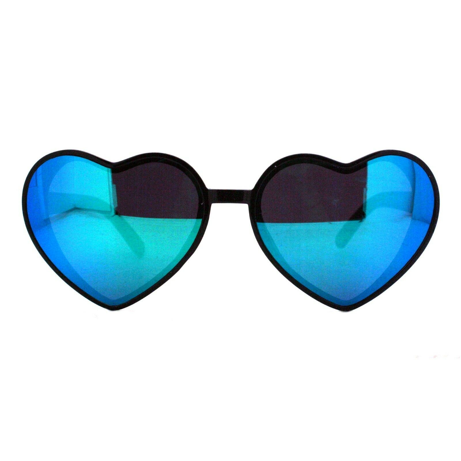 Oversized Heart Shape Sunglasses Womens Fashion Mirrored Lens Shades image 14