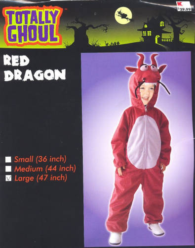 "Red DRAGON  Halloween Costume  MEDIUM 44""  PLUSH!  New!"