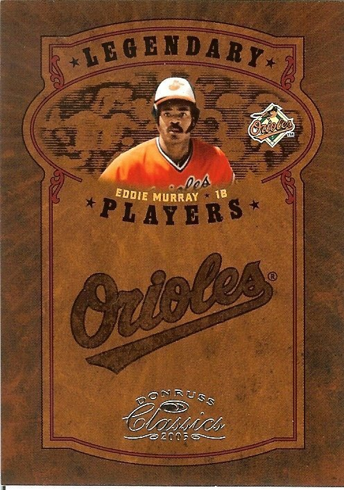 2005 donruss baltimore orioles eddie murray serial # 558/800