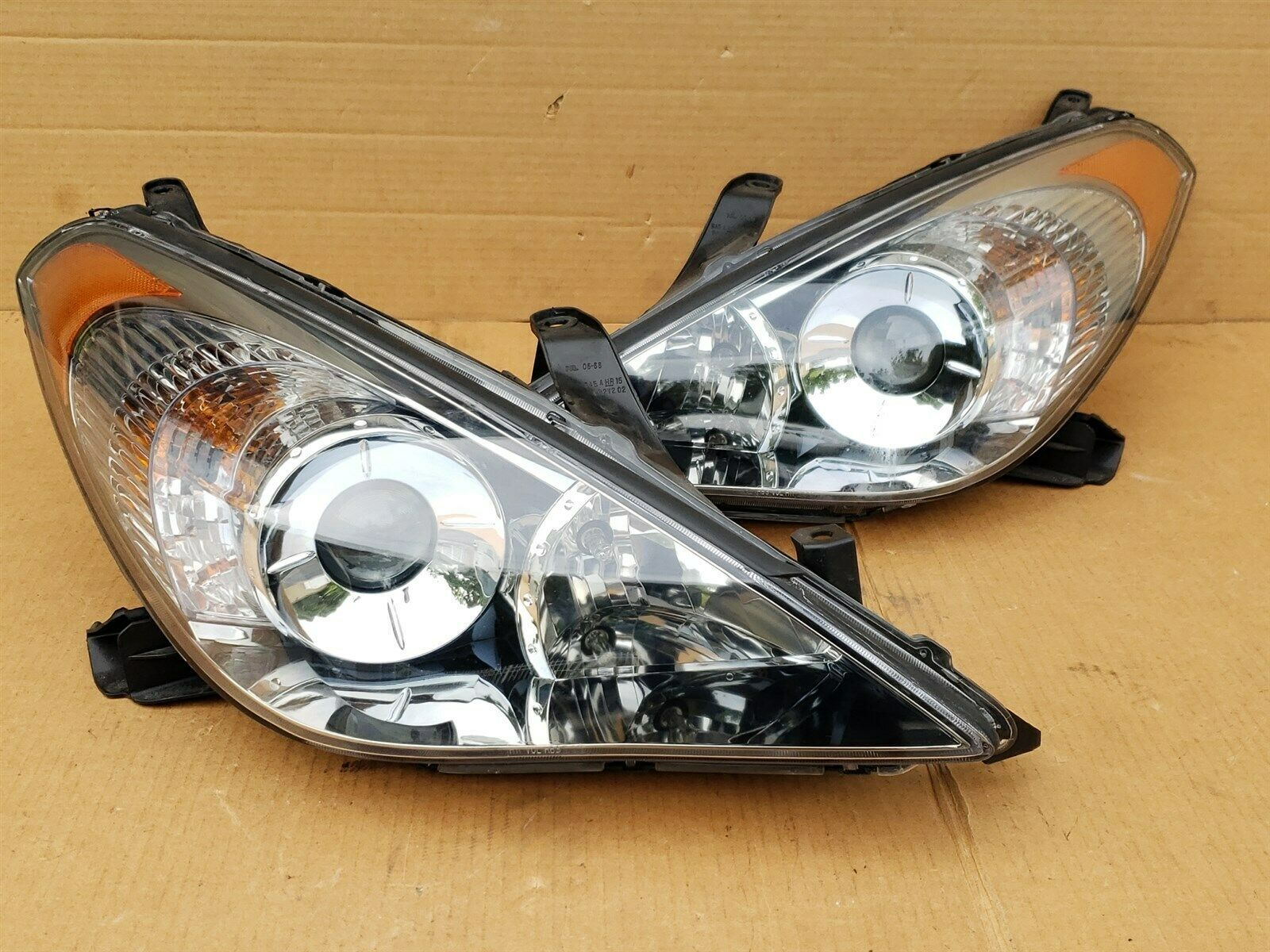 07-08 Toyota Solara OEM Halogen Headlight Lamp Matching Set Pair L&R - POLISHED