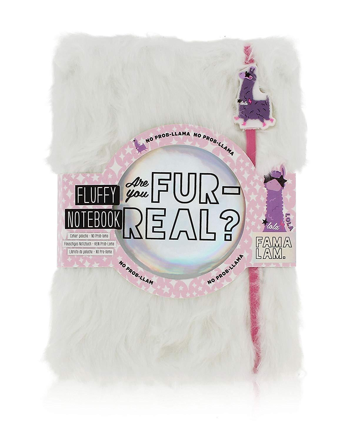Primary image for Purple Lola Llama Fluffy 80 Page Notebook Are you Fur Real? 5.75 x 8""
