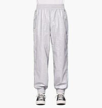 Rains Unisex 1704 Track Pants Relaxed Dripping Silver Grey S/M - $175.23