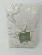 Pottery Barn Botanical Plants Embroidered Quilted Standard Pillow Sham C... - $34.64