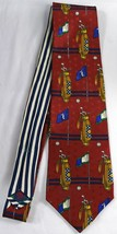 Tommy Hilfiger Golf Tie 100% Imported Silk Printed in Italy Made in USA - $5.20