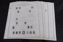 B25 Lot of 22 Finland Suomi Minkus Album Pages 1860-1982 w/ hinged stamps  - $50.00