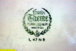 "Homer Laughlin Floral TH6 E47N5 Salad Plate 8 1/8"" image 4"