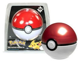Pokemon First Partner Pokeball Puzzle Tin 100 Pieces New in Package - $12.88