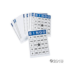 100 Laminated Reusable Jumbo Bingo Cards 8 1/2 by 11 Inches - $26.42 CAD