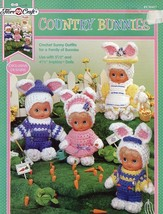 Country Bunnies Impkins Doll Outfits Fibre Craft World Friends Crochet P... - $5.37