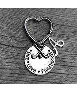 Personalized Field Hockey Live Love Charm Keychain with Letter Charm, Cu... - $13.50