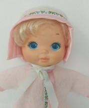 Mattel Snuggle Baby Girl Doll Pink Blonde Blue Eye Stuffed Plush Toy 198... - $29.69