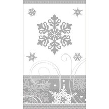Sparkling Snowflake Christmas Paper Hand Guest Napkins 16 Ct - £5.29 GBP