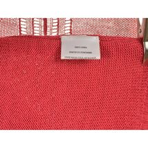 Eileen Fisher sweater cardigan SZ L soft red 100% linen knit pockets soft long s image 5