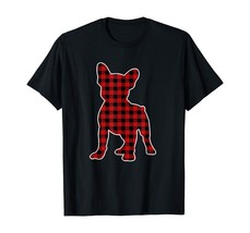 French Bulldog Christmas Shirt Dog Buffalo Plaid T-Shirt - $15.99