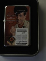 Vintage Art Work Windproof Dual Flame Torch Lighter Lucky Strike Gary Cooper - $23.70
