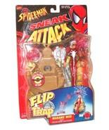 Marvel Comics Year 1998 Spider-Man Sneak Attack Flip 'N Trap 6 Inch Tall... - $31.19