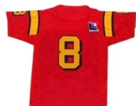 Clark Kent #8 Superman Smallville Movie Football Jersey Red Any Size image 2