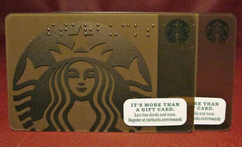 Lot of 3 Starbucks 2015 Bronze Braille Mermaid Gift Cards New with Tags - $7.30