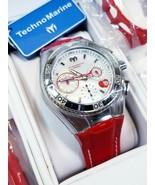 Women's Technomarine Cruise Stainless Steel Quartz Watch Leather Band + ... - $261.24