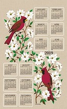 KayDee Designs 2019 Linen Calendar Kitchen Towel Dogwood - $15.73