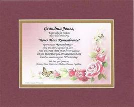 Personalized Touching and Heartfelt Poem for Birthday - [Grandma XXXX] Poem on 1 - $22.72