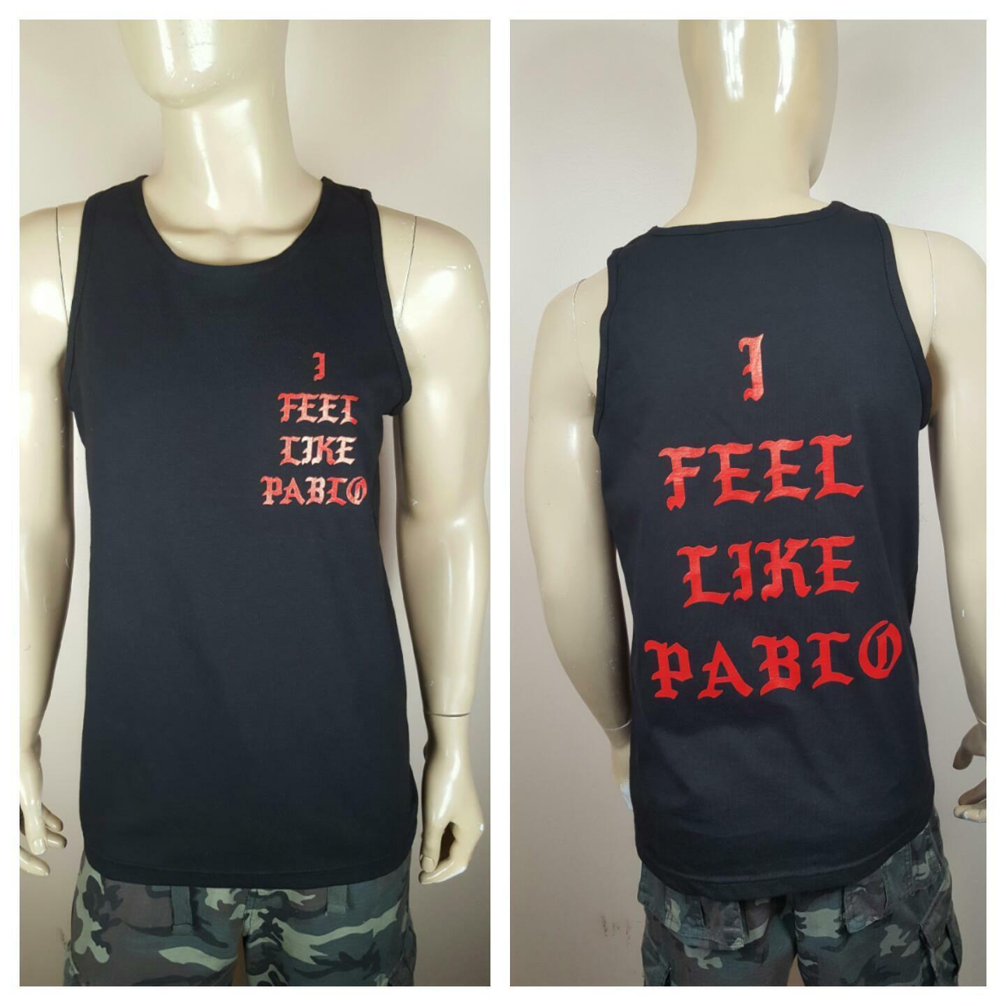 I Feel  Like Pablo Logo  Black Tank Top The Real Life  Of  Kanye West Yeezy - $20.99 - $22.99