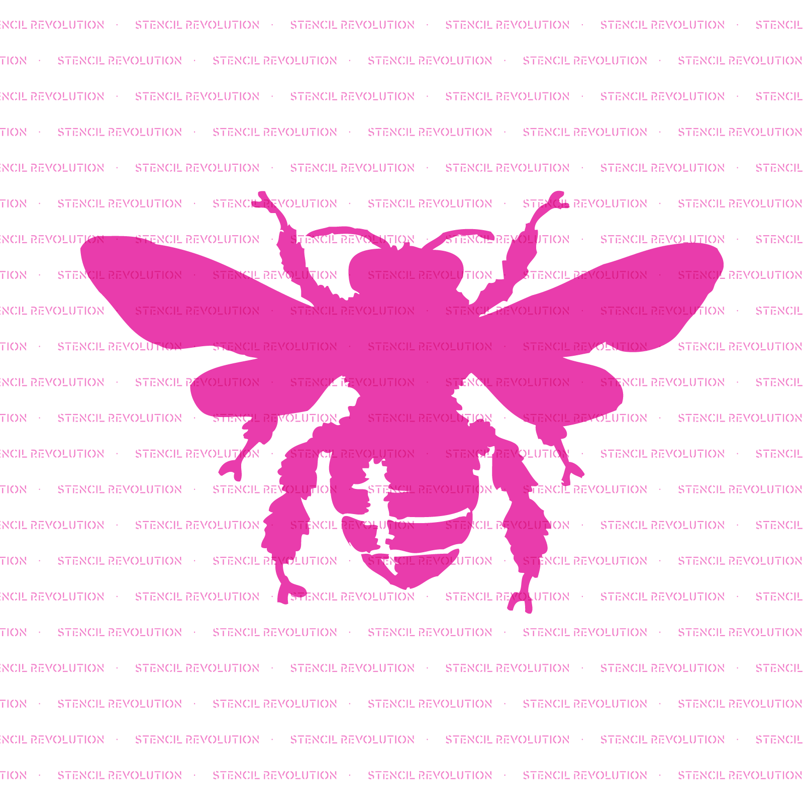 Bee Stencil - Reusable Stencils of Bee in Multiple Sizes